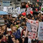 Miles marchan en Londres contra salida de UE.