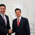 El Presidente Enrique Peña Nieto y el Gobernador Electo de Tamaulipas, Francisco Javier García Cabeza de Vaca, dialogaron en torno a la situación actual de la entidad.