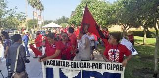 Con marcha conmemoran el cincuenta aniversario de la huelga del melón de 1966.