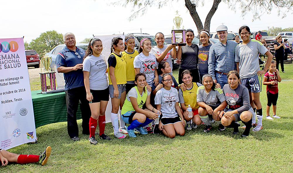 El equipo Huskies logró obtener el segundo lugar en el torneo relámpago organizado por Masa durante la Semana Binacional de Salud.