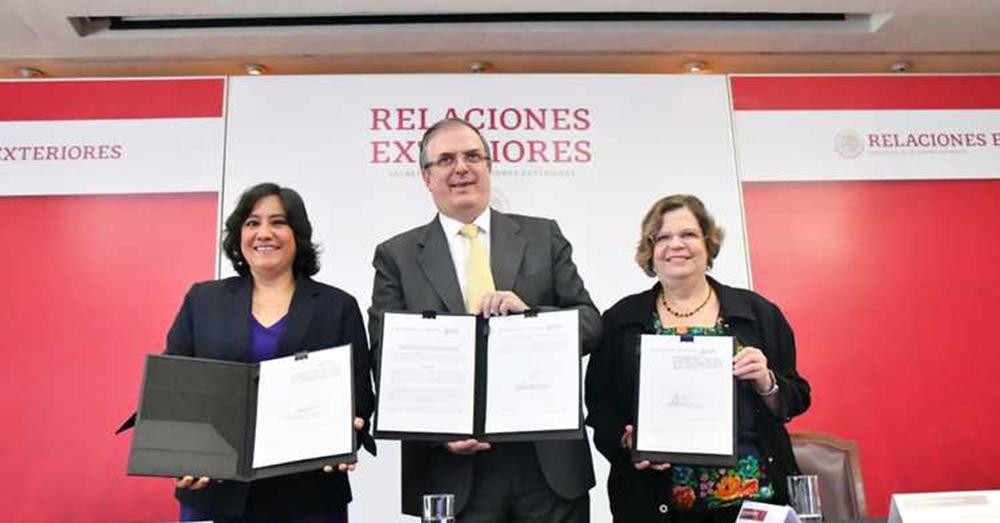 El canciller Marcelo Ebrard reitera la adopción de una Política Exterior Feminista.